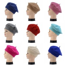 Korean hat wool warm winter Beret women Hat knitted beanie for Painter knit hats
