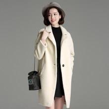 2018 Donne di Inverno Fur Coat Moda Donna di alta qualità bianco lungo  Cappotto di pelliccia Caldo Cappotto Invernale Donne 6a2f4eae4d0b