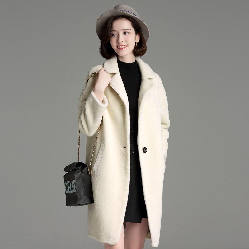 2018Winter Women Szőrmekabát divat Női magas minőségű hosszú, - Női ruházat