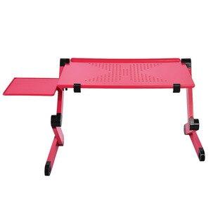 Image 3 - المحمولة طوي قابل للتعديل طاولة قابلة للطي لأجهزة الكمبيوتر المحمول مكتب كمبيوتر ميسا الفقرة حامل دفاتر الملاحظات صينية ل أريكة سرير الأسود أو الأحمر