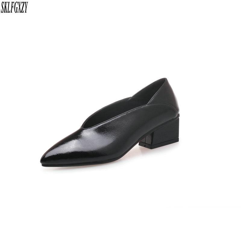 SKLFGXZY 2019 Spring new fashion vintage leather women shoes 100% leather cowhide women shoes sizes 34-40SKLFGXZY 2019 Spring new fashion vintage leather women shoes 100% leather cowhide women shoes sizes 34-40