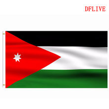 DFLIVE Jordan Country Flag 3x5 FT Printed Polyester Fly 90x150 CM Jordanian JO National Banner(China)