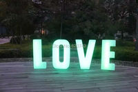 1 piece colors changeable rechargeable LED light words Luminous letters sign led floor lamp glowing light outdoor/indoor