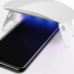 Image 5 - الأشعة فوق البنفسجية كامل الغراء واقي للشاشة لسامسونج S10e زائد S8 s9 Plus ملاحظة 9 تخفيف من الزجاج الكامل غطاء UV ضوء السائل الأب زميله 30 برو