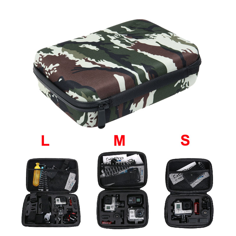 Camouflage Camera Storage Bag for Yi 4K+ Like GOPRO Hero5 6 SJCAM SJ8 SJ6 Action Camera  ...