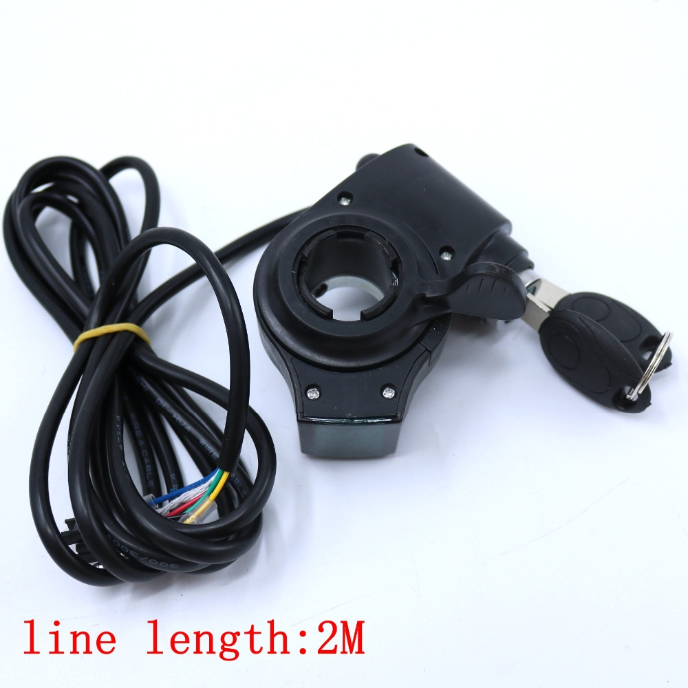 New Design 12-80V X E-bike Finger Throttle Both-way Thumb Gas Handle With Battery Indicator