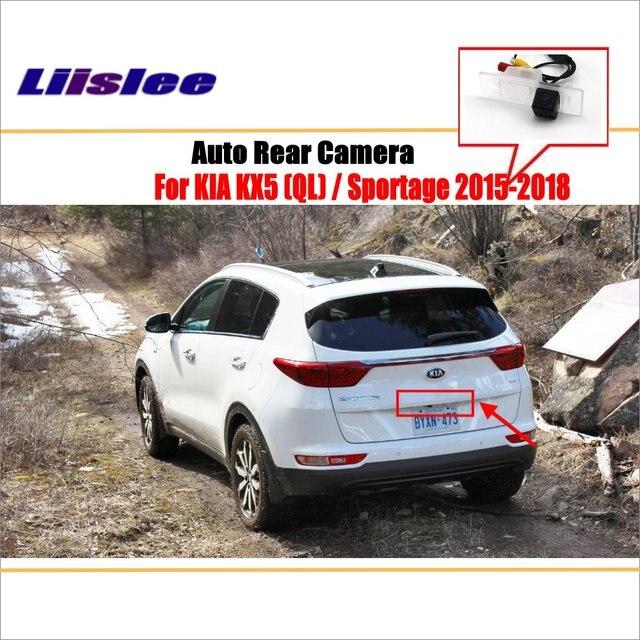 Liislee inversa cámara de visión trasera para KIA KX5 (QL) /Sportage 2015 ~ 2018/cámara trasera de estacionamiento/HD CCD noche Visioin