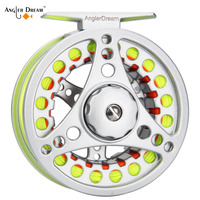 High Quality Fly Fishing Reel 1/2 3/4 5/6 7/8 WT Fly Reel 2+1BB 1:1 Aluminum Alloy Fly Reel Combo Fishing Gear Fishing Tackle