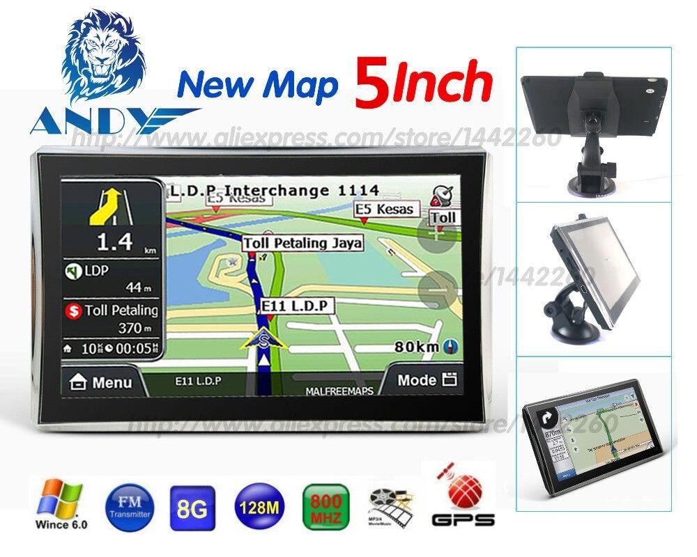 Xster car gps navigation 5 inch touchscreen navigator 128mb 8gb sat nav mp3 fm europe map