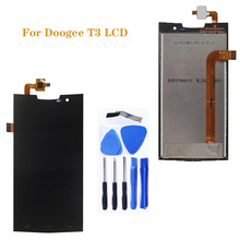 цена на 4.7-inch for Doogee T3 LCD display + touch screen digitizer repair parts replacement Doogee T3 LCD screen + tools