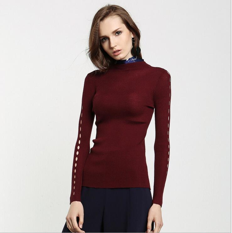 Elástico pullover mujeres suéter Euro  otoño invierno de la manera del todo-fósf