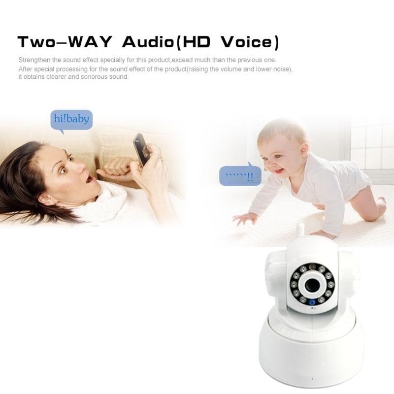 Caméra ip wifi sans fil sécurité à domicile téléphone intérieur vue en temps réel 720 P moniteur bébé/animal de compagnie - 2