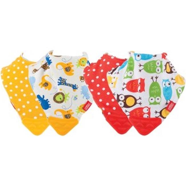 DDI 2276618 Nuby? Bandana Teething Bibs, Red/Yellow 2-Pack Case of 72 miracool neck bandana re usable 100 s of times keeps you cool red 2 pack