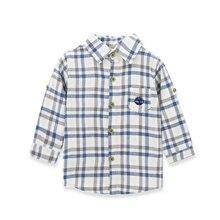 Kavkas/детская блузка для мальчиков топы года, Модные осенние Блузы для маленьких мальчиков, хлопок, клетчатая рубашка с длинными рукавами для мальчиков новые блузки для мальчиков