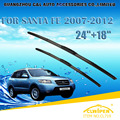 """Escovas Para HYUNDAI SANTA FE SANTAFE (2006-2012) 07 2008 2009 2010 2011 Windscreen Windshield Wiper Blade 24 """"+ 18"""" Carros estilo"""