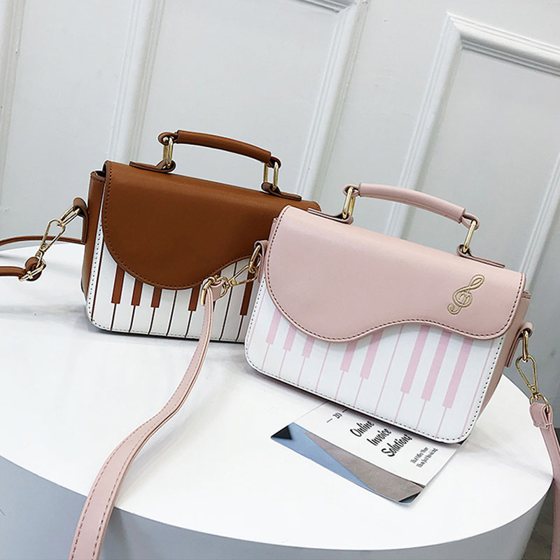 Soomile Fashion Women Handbag Piano Pattern Pu Leather Young Woman Shoulder Bag Girls Small Crossbody Bag Pouch Totes 2019 New in Top Handle Bags from Luggage Bags