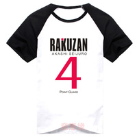 Anime Kuroko's Basket ball Akashi Seijuro Cosplay T-shirt Kuroko no Basuke men T Shirt cotton Short Sleeve Tops Tee