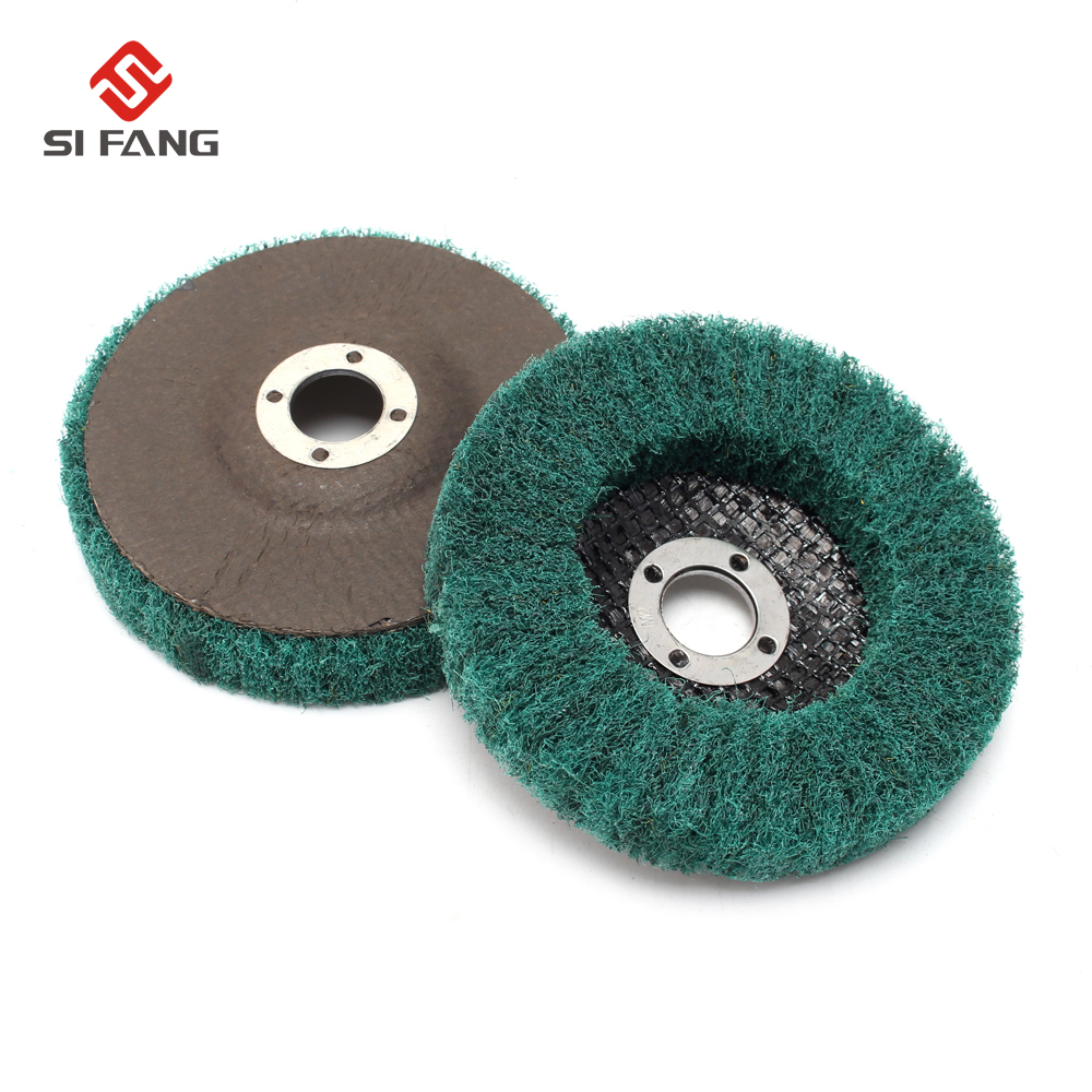 5Pcs 100mmX16mmX15mm Green Fold Felt Sanding Polishing Buffing Wheel Pad