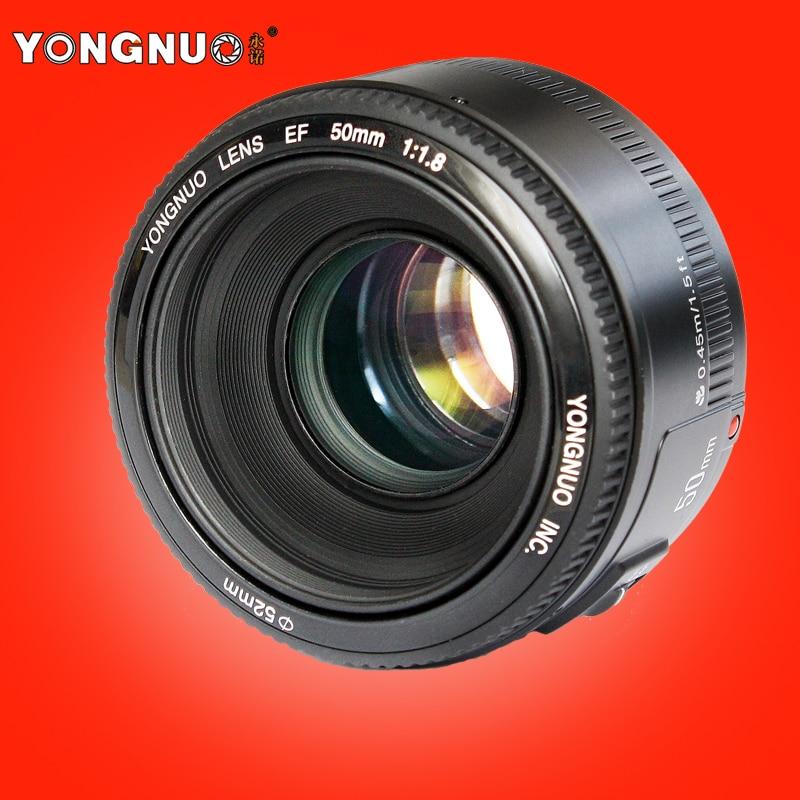 YONGNUO YN 50mm Lens fixed focus lens EF 50mm F/1.8 AF/MF lense Large Aperture Auto Focus Lens For Canon DSLR Camera объектив для фотокамеры other yongnuo 50 ef 50mm f 1 8 af mf canon yn ef 50mm f1 8