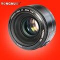 YONGNUO YN 50mm Lente de foco fixo lente EF 50mm F/1.8 AF/MF lente Grande Abertura Auto Focus Lens Para Canon DSLR câmera