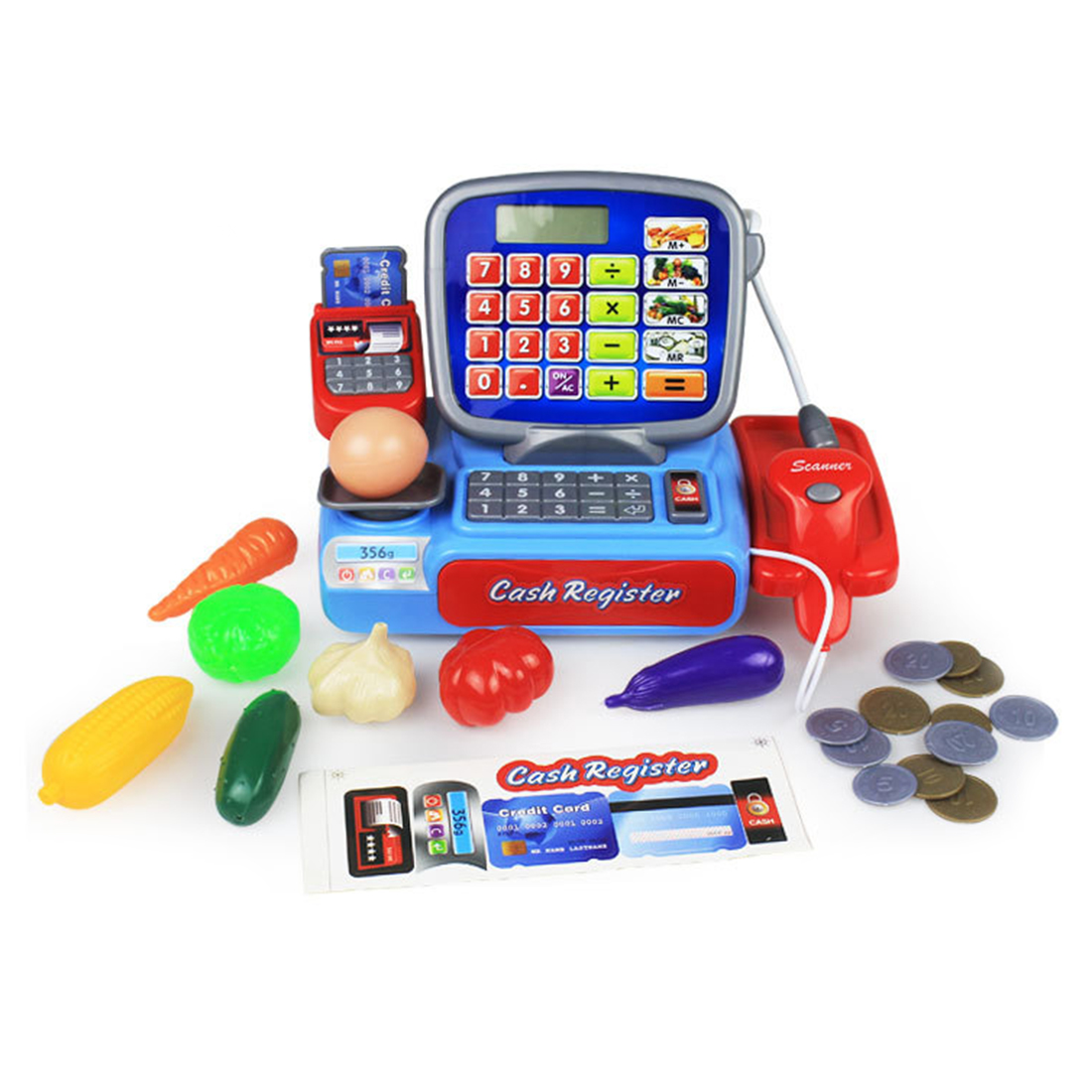 Children Pretend Play Toys Simulation Supermarket Cash