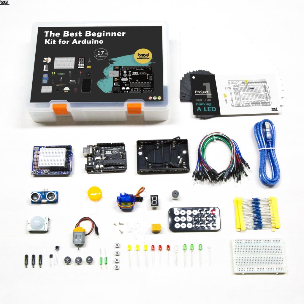 KUONGSHUN UNO R3 Starter Kit For Arduino UNO R3 Projects With Gift Box And User Manual-in Integrated Circuits from Electronic Components & Supplies