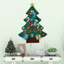 DIY самоклеящийся набор рождественской елки с 26 съемными орнаментами рождественские украшения ручной работы