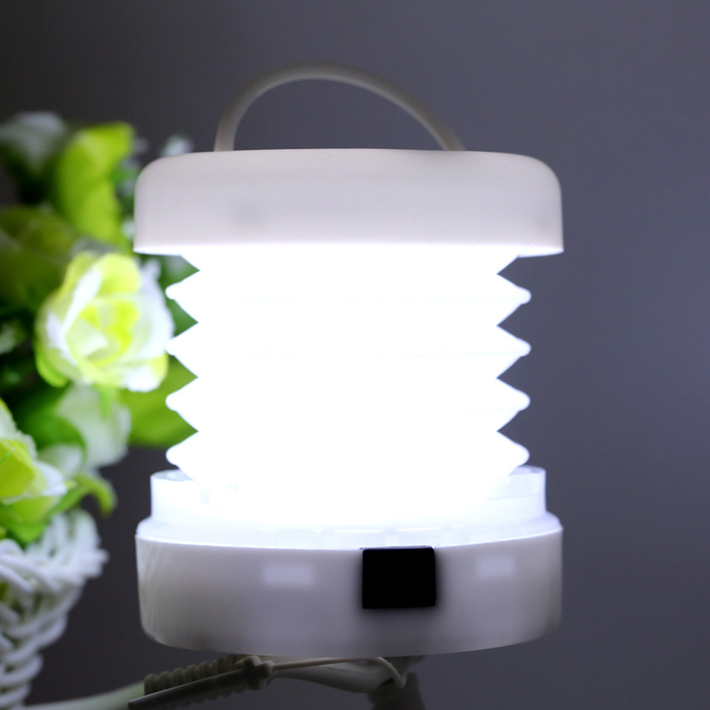 2017 new Lightweight Waterproof Retractable Camping Lantern Light Pop-up Flashlight
