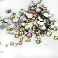 Nueva Llegada 1000 unids Rainbow Colores Glitter 1.5mm Posterior Plana Del Rhinestone Del Clavo Del Rhinestone 3d Decoración Del Arte Del Clavo
