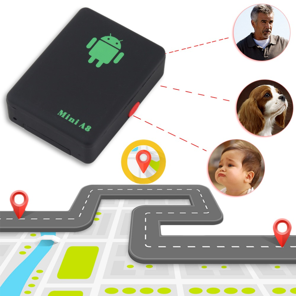 A8 Mini GSM/GPRS Tracker Global Real Time GSM GPRS Tracking Device With SOS Button for Cars Kids Elder Pets No GPS No GPS hot hc608 1 5 lcd gsm gprs gps tracking tracing wrist watch black