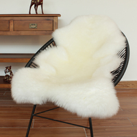 Cojín de piel para cochecito de bebé  cojín súper grueso  cojín blanco entero de piel de oveja  cojín de lana para sofá  cojín para silla