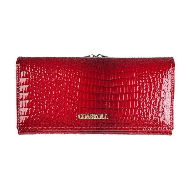 547146226c6aa Marke Frauen Brieftaschen und Geldbörsen Weibliche Lange Europäischen und  Amerikanischen Stil Aus Echtem Leder Brieftasche Geldbörse