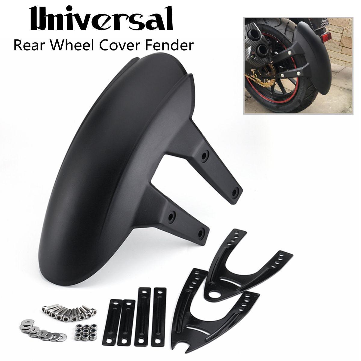 38.5cm Universal Motorcycle Rear Mud Flaps Fender Flares Wheel Cover Motorbike Splash Guard Adjustable Mudguard With Bracket все цены