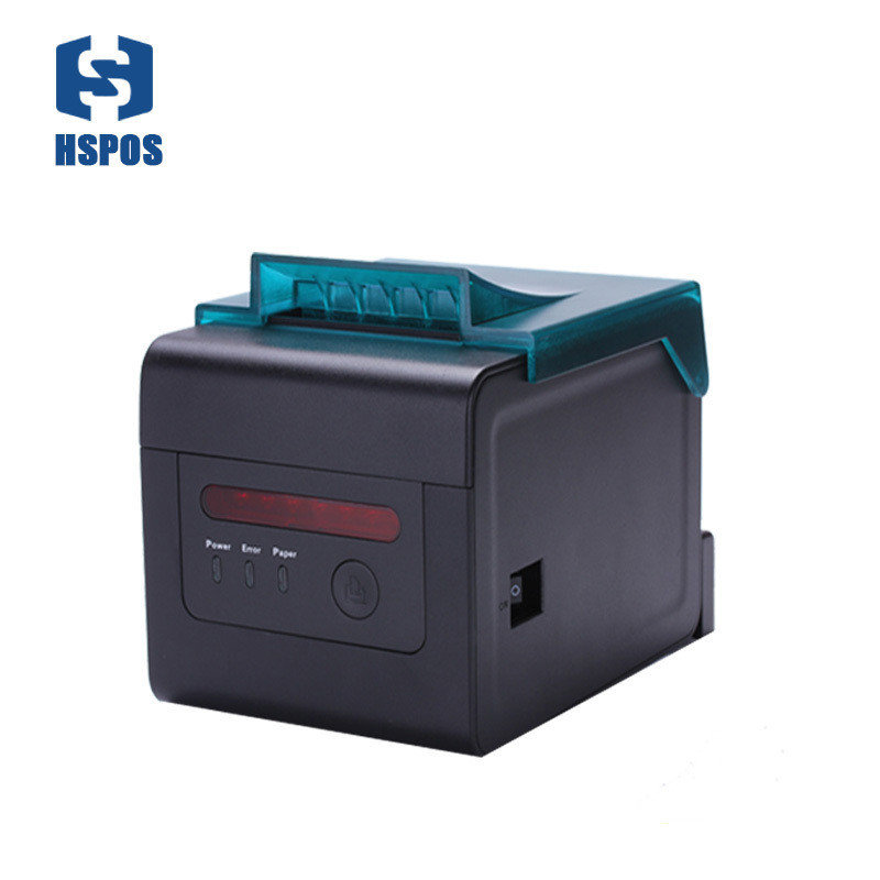 high efficiency 80mm and 58mm thermal receipt printer has alarm with cutter use for ticket office and kitchen bill printer image