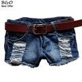 Fashion Summer Women New Denim Shorts Low Waist Hole Female Super Cool Jeans Shorts plus size