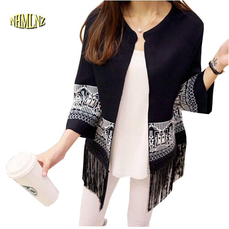 Women's Clothing Sincere Women Warm Sweater Kinted Striped Solid Sexy Plus Size Autumn Winter Solid Tassel Pullover Cashmere Shawl Female Tops Hot Ture 100% Guarantee Cardigans