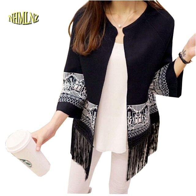 a5d06e5bf0 Latest Autumn Fashion Women Sweater Round neck Long sleeve Loose Shawl  Sweater Elegant tassel Cardigan Women Slim Coat G2089