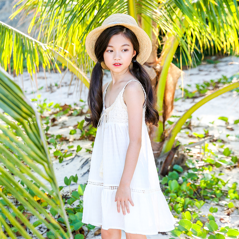 B-A1815 Super sweet style Sundress Baby Girls Dresses Summer Bohemian Beach Girls Printing Fruitl Sling Dress 5-13Y  Clothing парка b style b style bs002ewxwm49