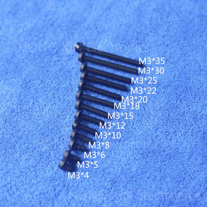 M3 * 10 10mm 1 sztuk czarny okrągły głowy śruba nylonowa plastikowa nakrętka śruba izolacyjna brand new RoHS zgodny PC/board DIY hobby itp