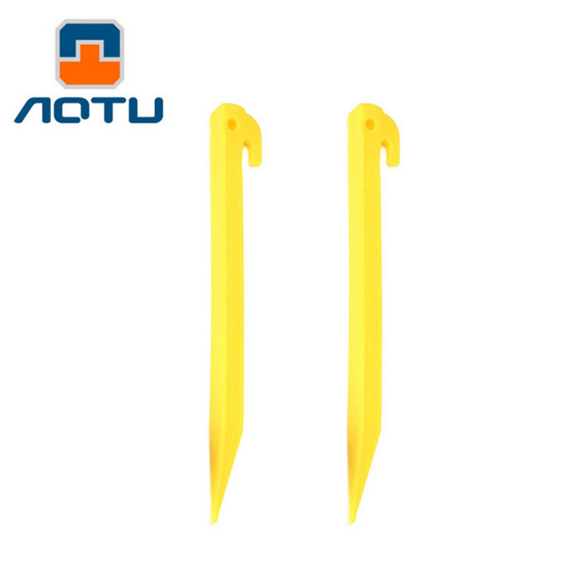 Tent Nail 100 pcs 19cm PP Plastic Stake Camping Equipment Outdoor Travel Tent Peg Tent Accessories in Tent Accessories from Sports Entertainment