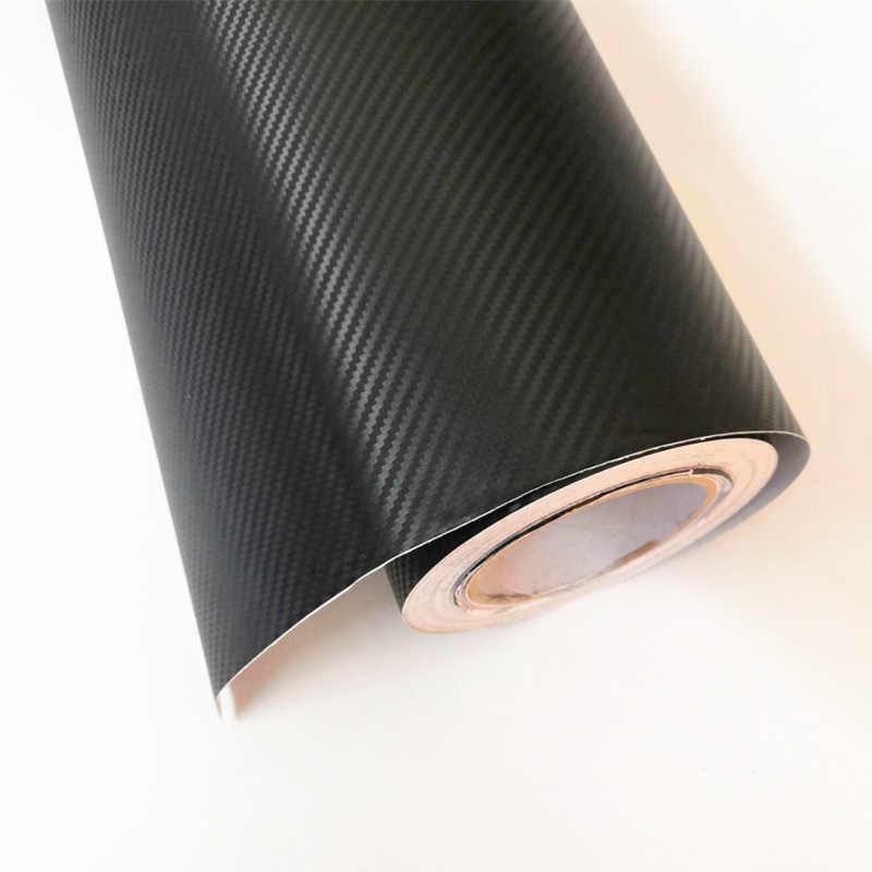40X100 ซม.3D คาร์บอนไฟเบอร์ไวนิลรถ Wrap แผ่นม้วนฟิล์มสติกเกอร์ Decal ขายอุปกรณ์จัดแต่งทรงผมรถสีดำ /สีขาวสีตัวเลือก