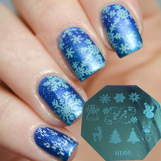 Aliexpress buy christmas stamping plate nail art holly christmas stamping plate nail art holly hearts birds love sledge bell false nails and natural nails prinsesfo Image collections