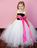 Vendita calda bambini Infantili Del Bambino Del Crochet all'ingrosso di stile di modo bambini bello Fiore s Dress Bambini Tulle Vestito per il Compleanno/Wed
