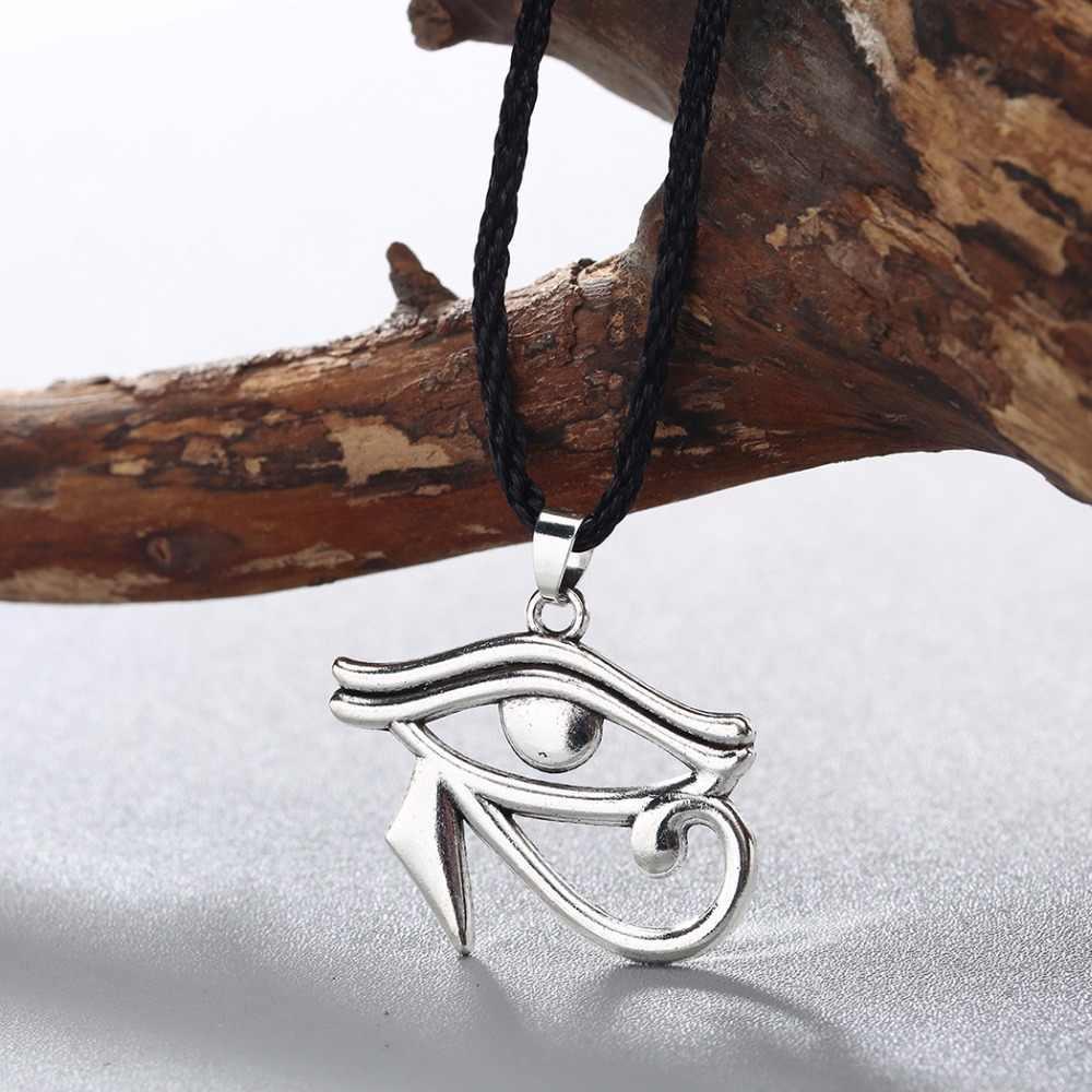 Vintage Mata Horus Menawan Liontin Kalung Beruntung Allah Mesir Kuno Iman Jimat Kalung Perhiasan untuk Wanita Pria Hadiah