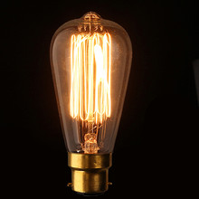 Винтажная лампочка эдисона B22 40 Вт, антикварная лампа накаливания из прозрачного стекла, Подвесная лампа для бара, кафе, освещения 110 В/220 В