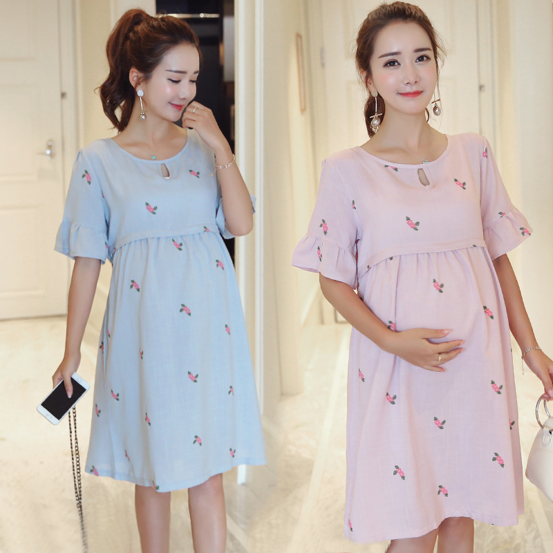 1019# Sweet Linen Maternity Nursing Dress 2019 Summer Breastfeeding Clothes for Pregnant Women Pregnancy Breast Feeding Clothing1019# Sweet Linen Maternity Nursing Dress 2019 Summer Breastfeeding Clothes for Pregnant Women Pregnancy Breast Feeding Clothing