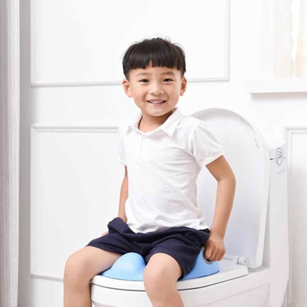 Asiento de inodoro para niños, asiento anticaída, escalera para asiento de bebé plegable