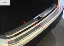 2 pcs For Nissan Qashqai J11 2014 2015 Stainless Steel Rear Outer + Inner Bumper Protector Door Sill Plate
