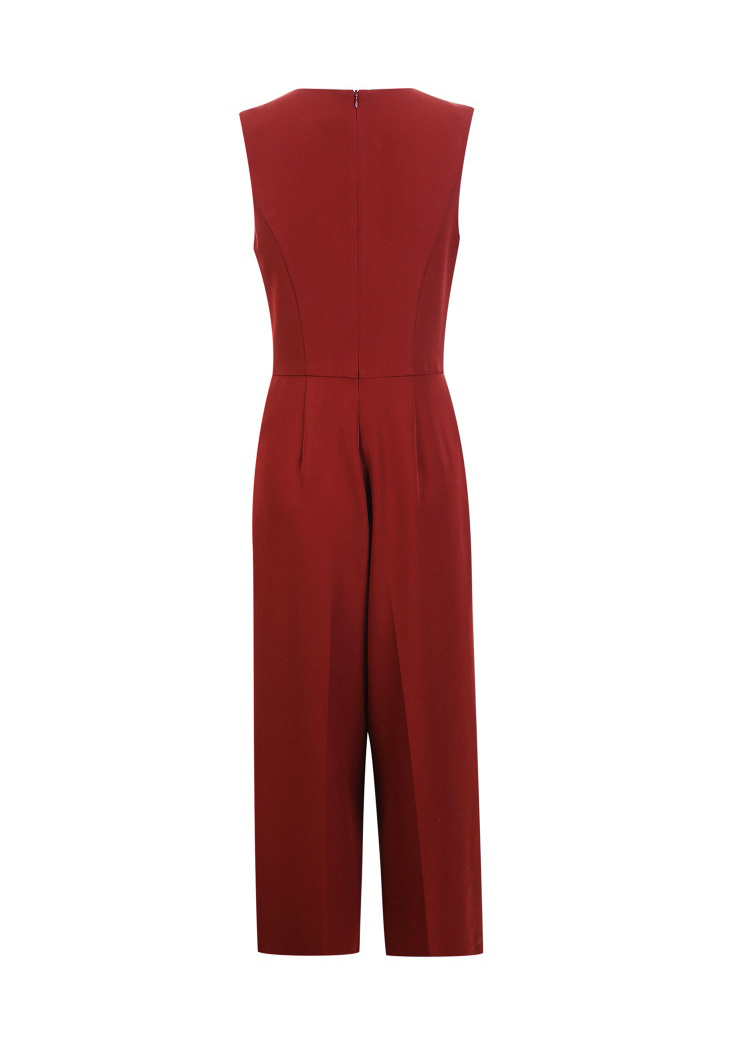 Vero Moda spring fashionable V-collar loose-leg cropped Jumpsuits for women |318144507 22