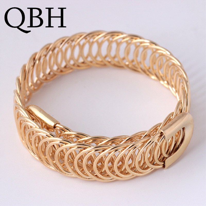 L001 European Punk Adjustable Open Bracelets & Bangles Women Sexy New Fashion Charm pulseras Metal Braided Party Jewelry Gifts(China)